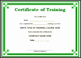 4 certificate of training completion template sampletemplatess training certificate template yadclub Image collections