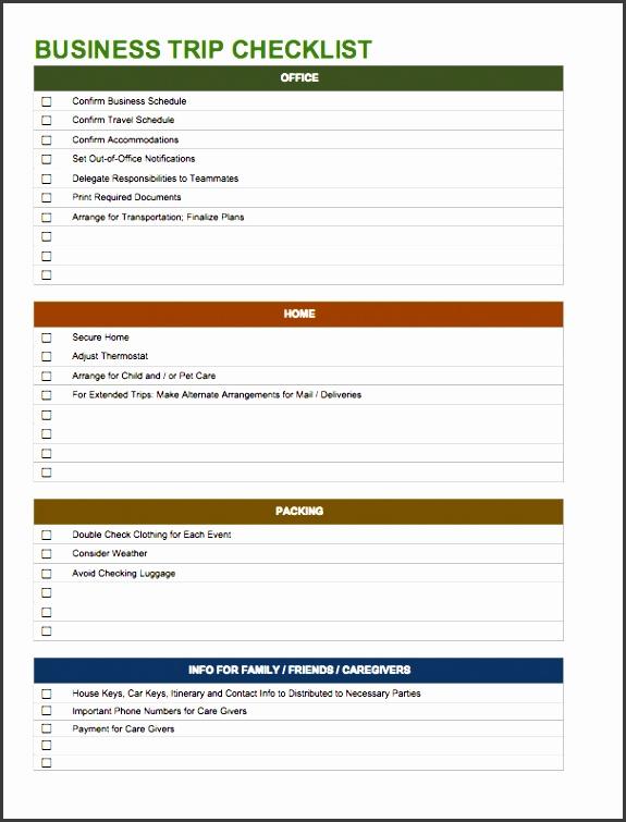 temp businesstripchecklist word business trip checklist template