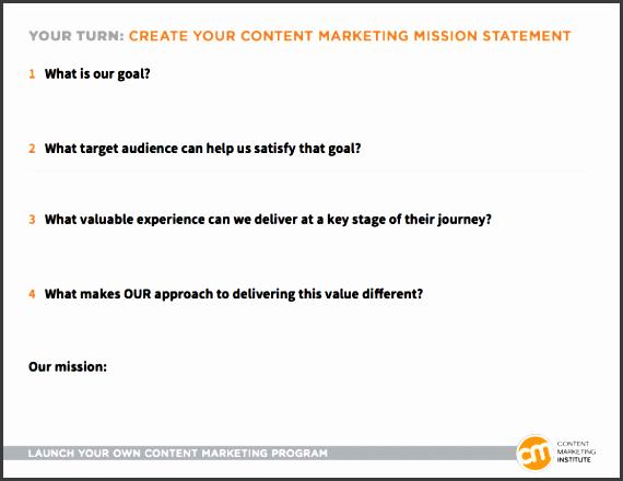 content marketing mission