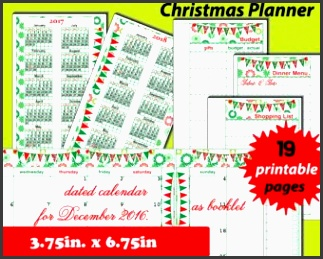 christmas planner printable 2017 calendar holiday planner intended for christmas t organizer template 2017