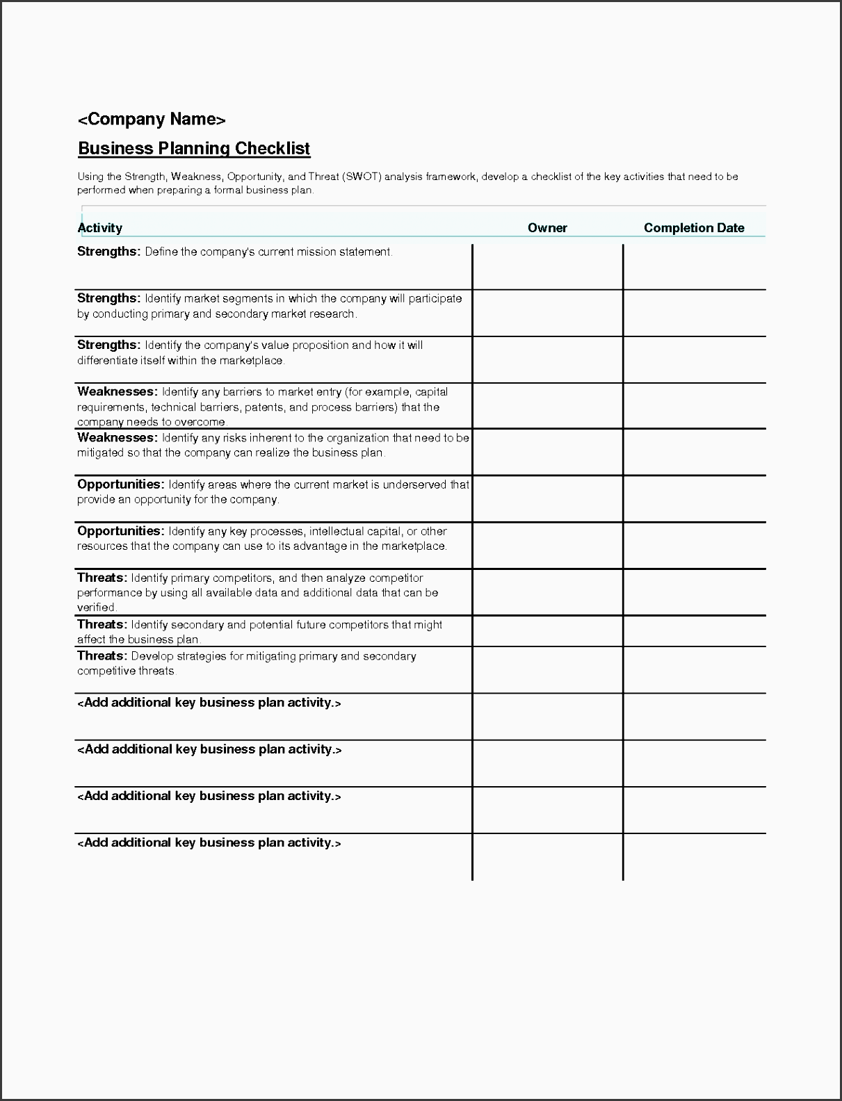 microsoft event planning template