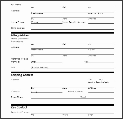 Customer Information Sheet Customer Information Form Microsoft Word Excel  Templates 419400  New Customer Form Template Word