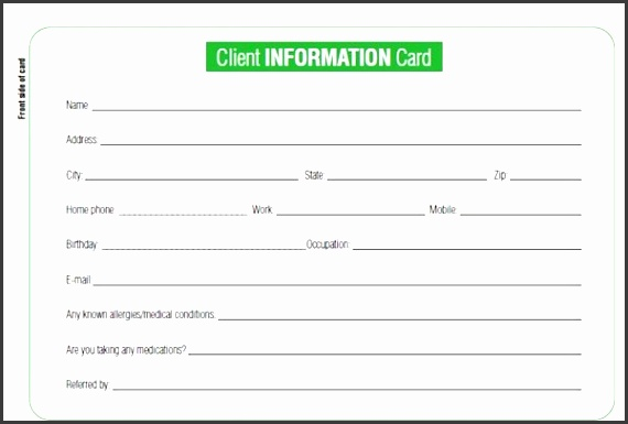 client information sheet templates word excel pdf formats