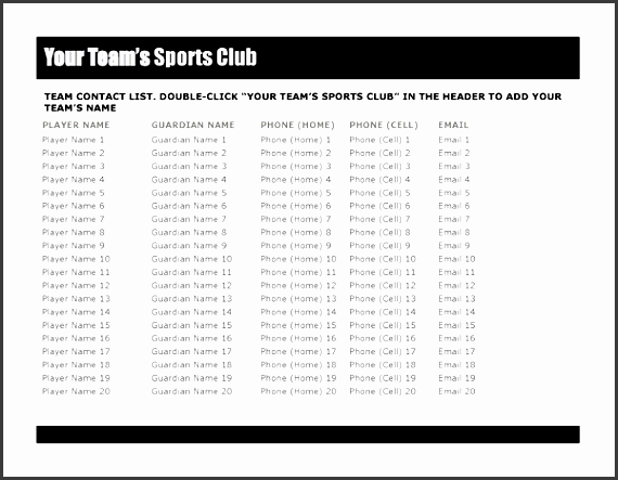 5  club member sign up sheet template