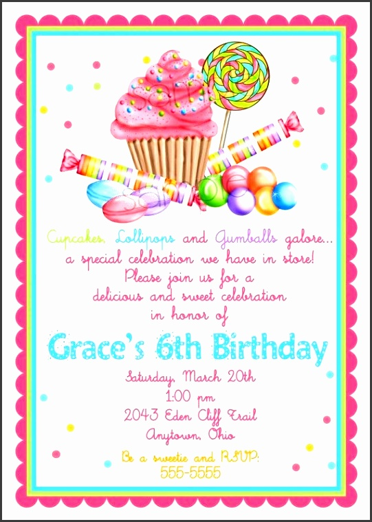 sweet shop birthday party invitations candy cupcake invitations wonderland sweet shoppe cupcake candy lipop birthday party