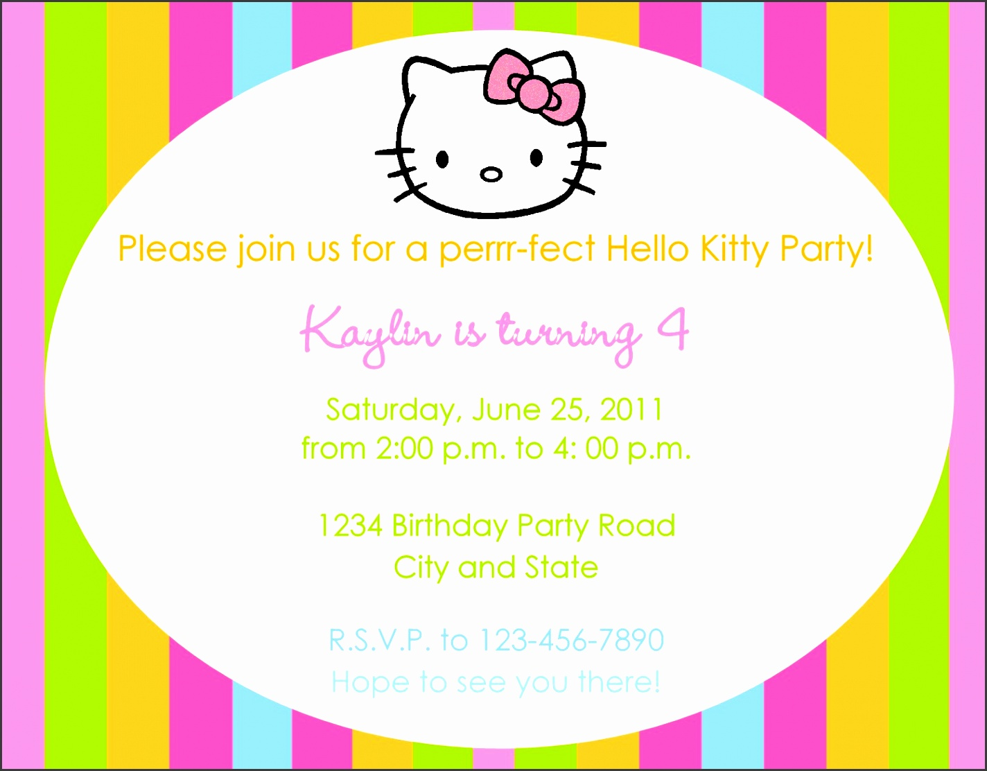 the best choice cute and funny cartoon design birthday party invitation wording line patern full color