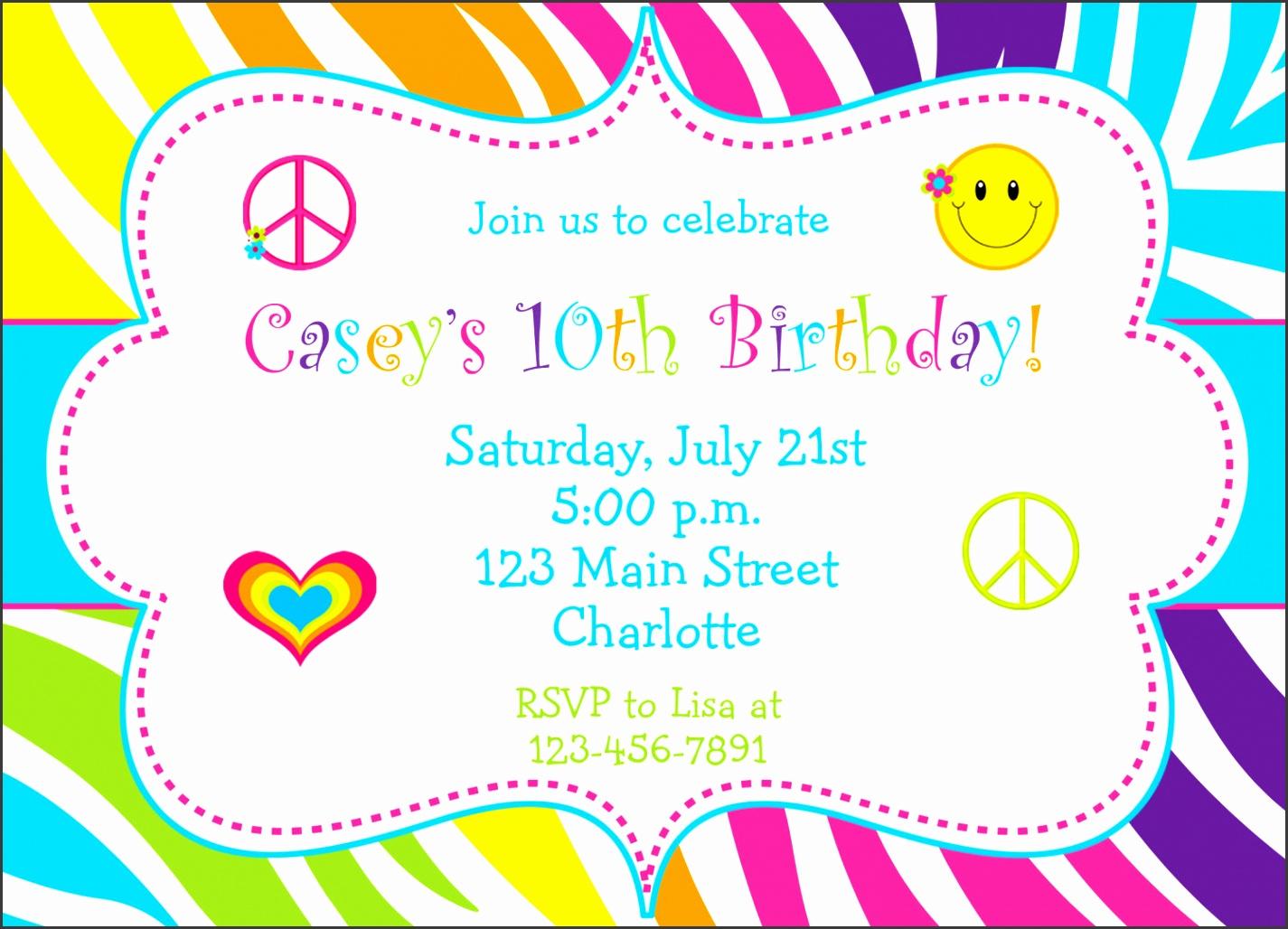 fun birthday party invitations