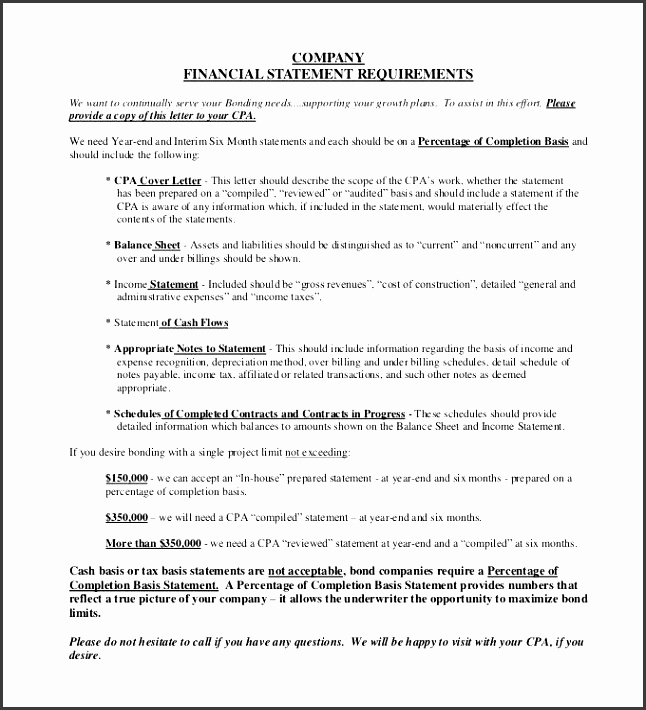 able pany financial statement requirements template