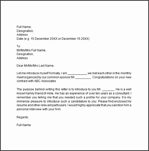 ideas of self introduction letter format for worksheet