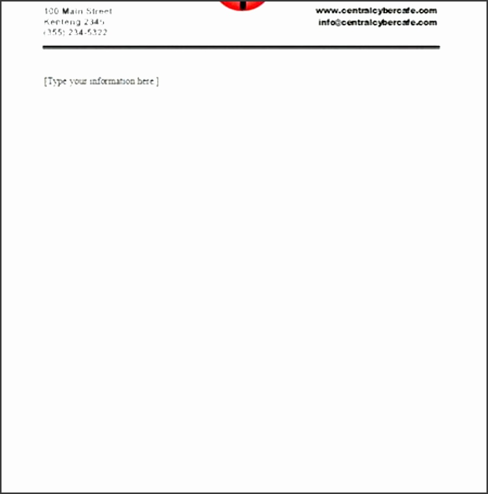 pany letterhead template pany letterhead template pany intended for business letterhead format