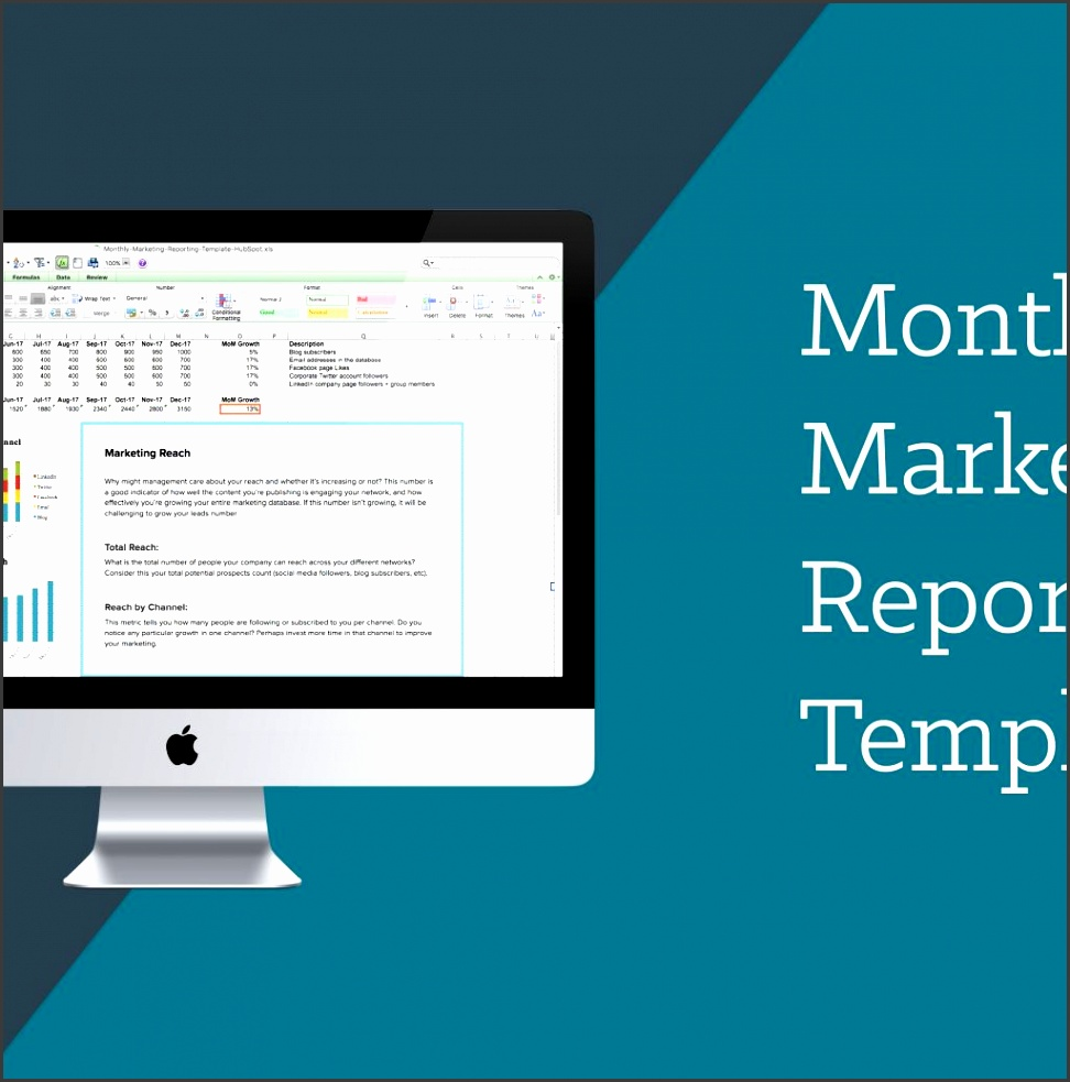 monthly marketing reporting template free in digital marketing report template