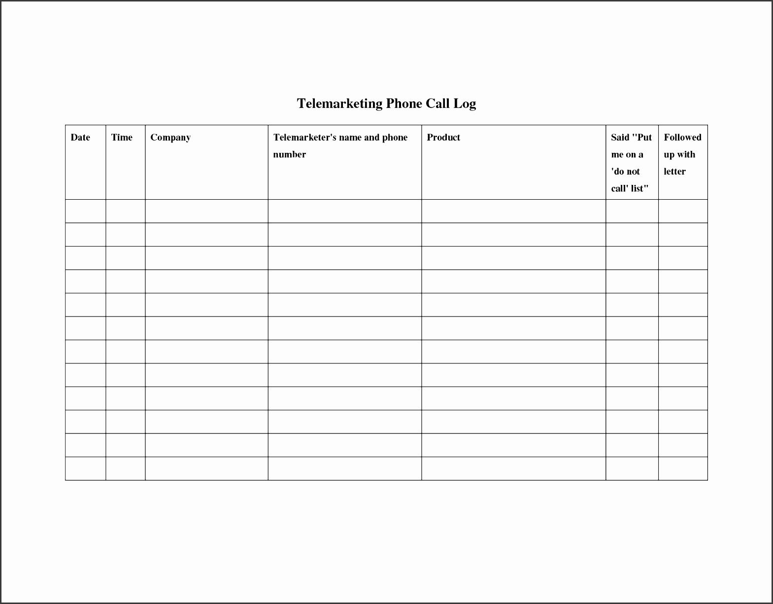 8 company phone log template sampletemplatess sampletemplatess. Black Bedroom Furniture Sets. Home Design Ideas