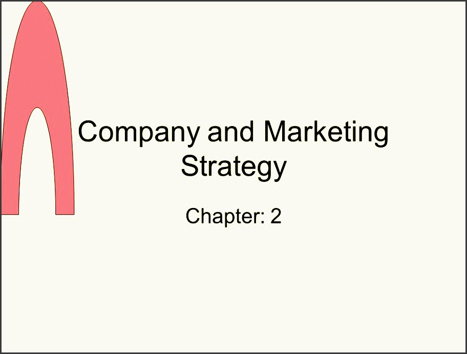 1 pany and marketing strategy chapter 2
