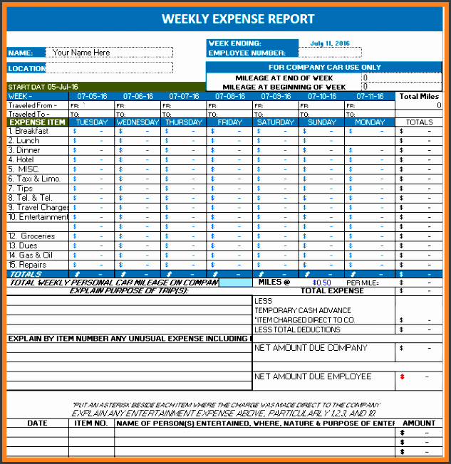 8 microsoft office expense report template progress report