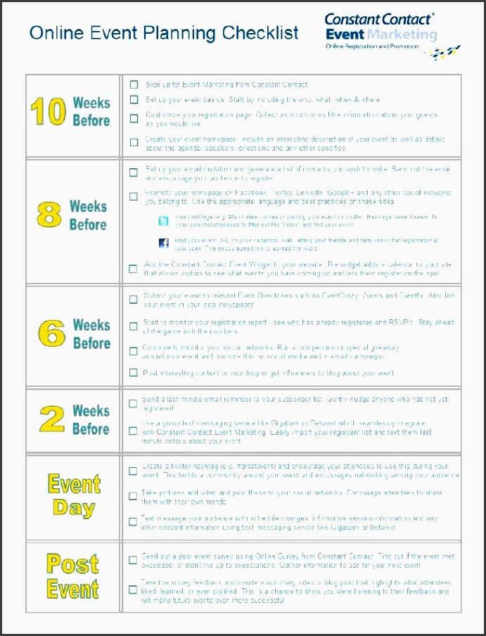 online event planning checklist