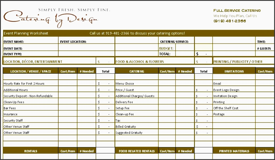 wedding planning bud checklist wedding catering bud worksheet advanced and simple