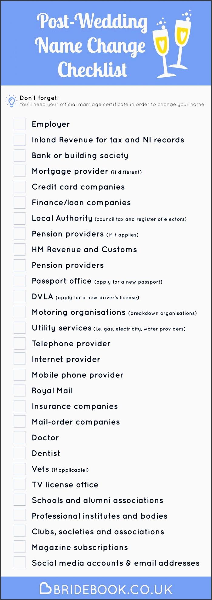 Versatile image inside name change checklist printable