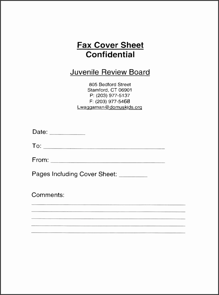 free template confidential fax cover sheet full size