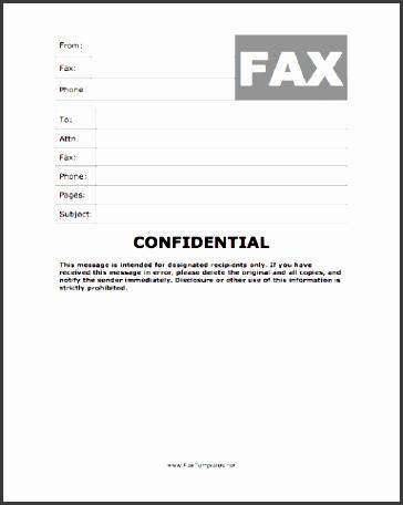 confidential fax template