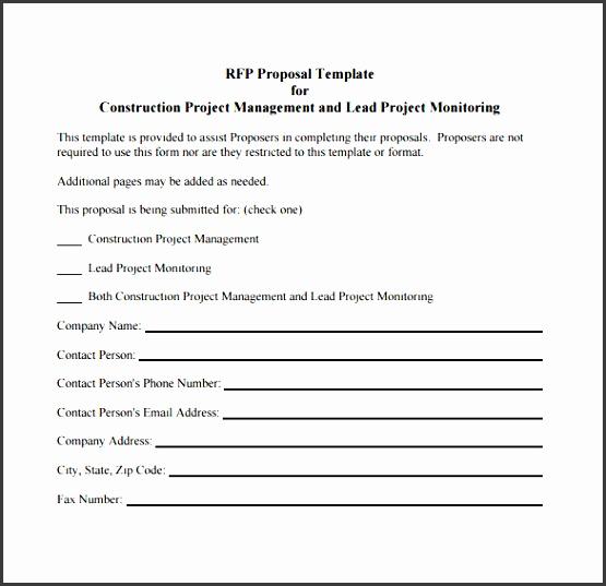 construction project proposal pdf format