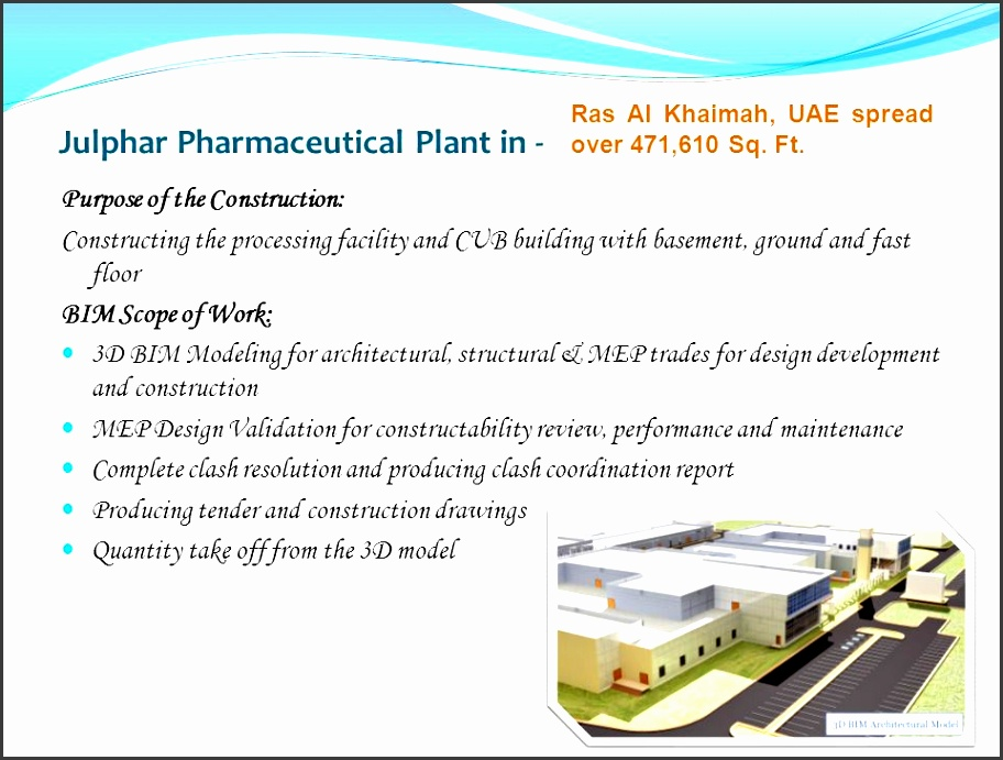julphar pharmaceutical plant in purpose of the construction constructing the processing facility and cub