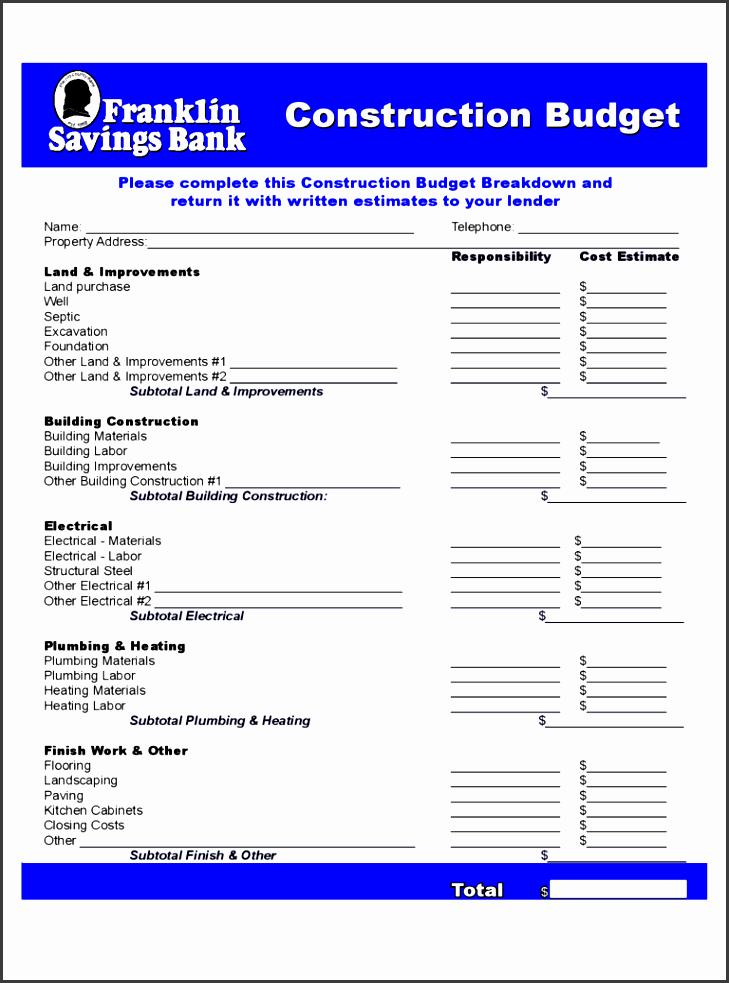 construction bud franklin savings bank free