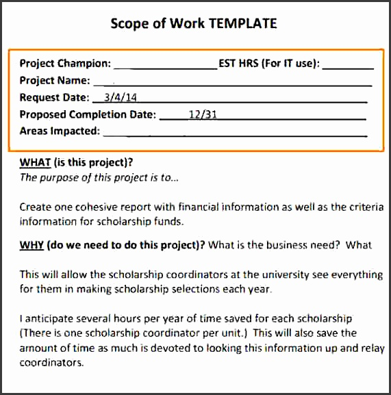 scope of work constructionope of work template sample