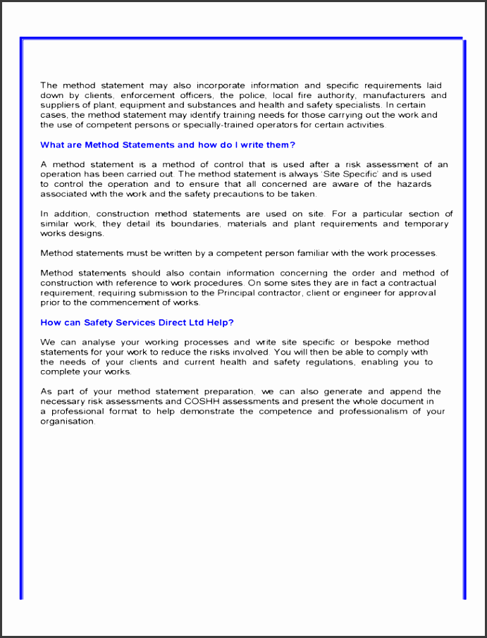 10 Construction Statement Of Work Template - SampleTemplatess ...
