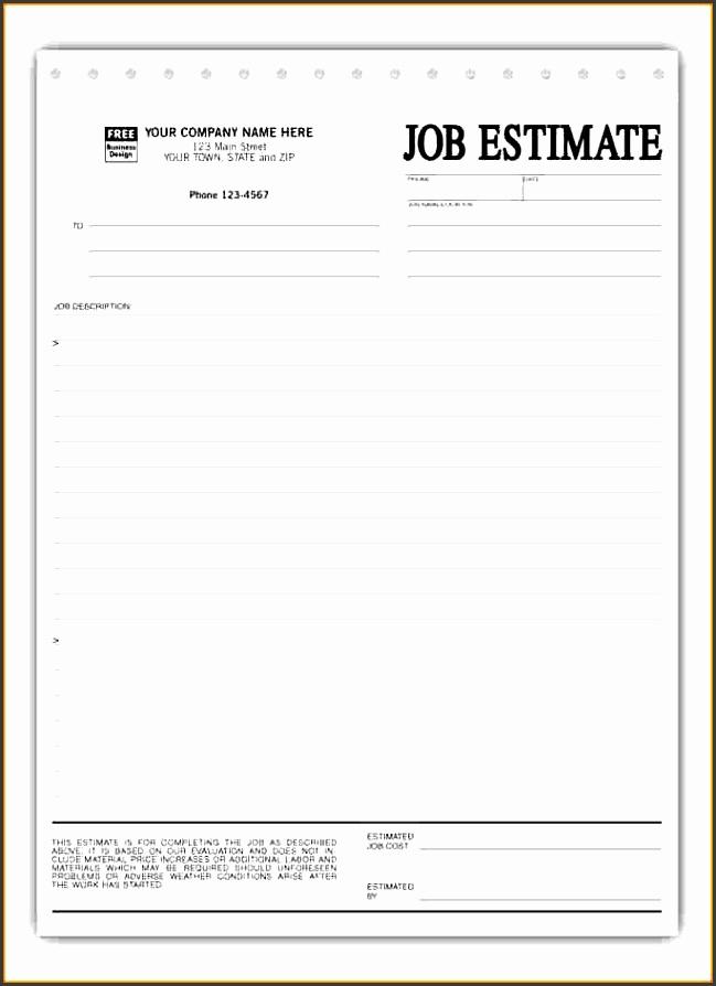 7 free construction estimate template pdf