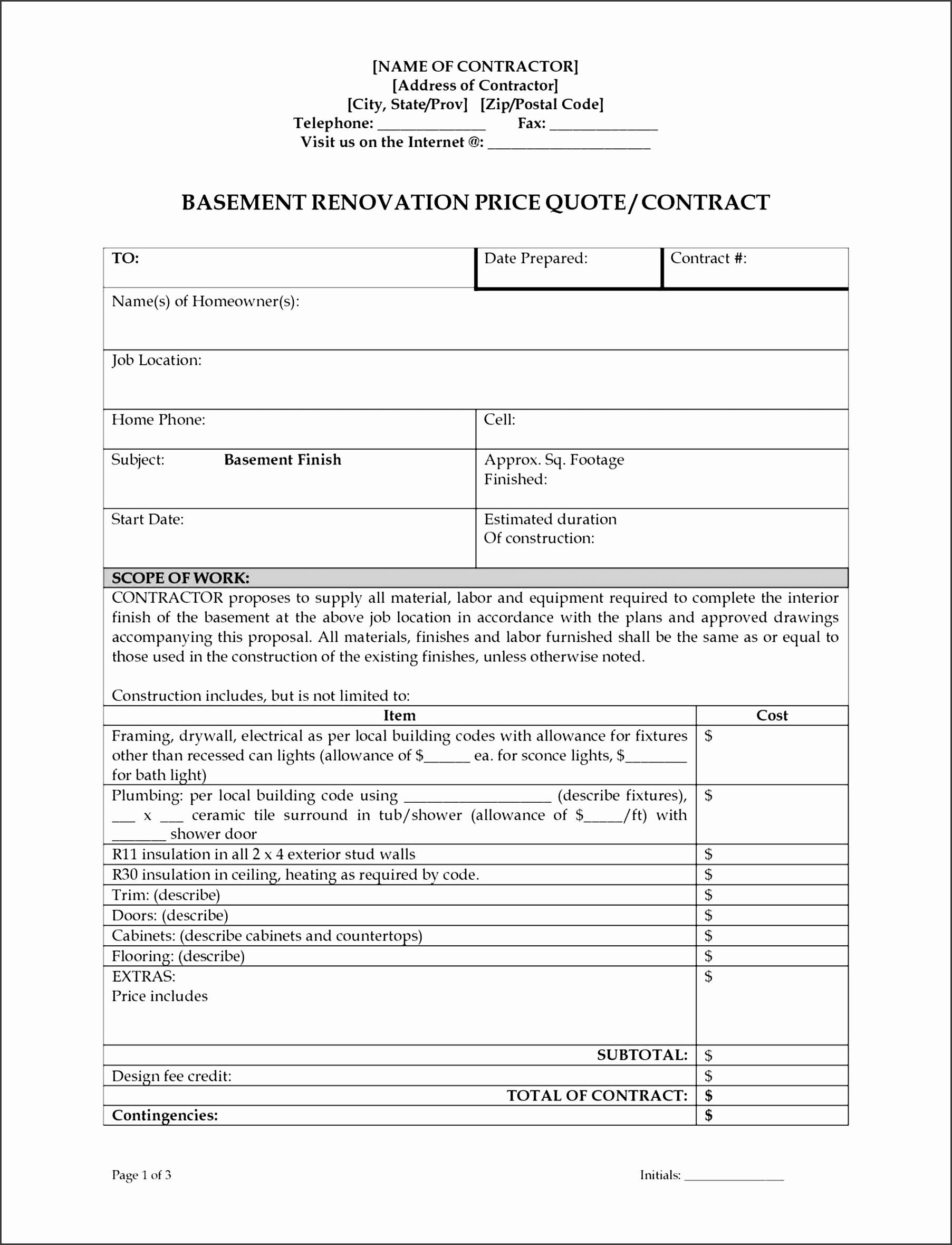 this job estimate template would be good if have got to list a number of items for the project or job the template just covers the most basic parameters