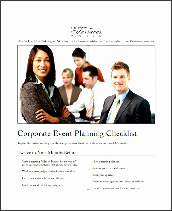 corporate event to do list template