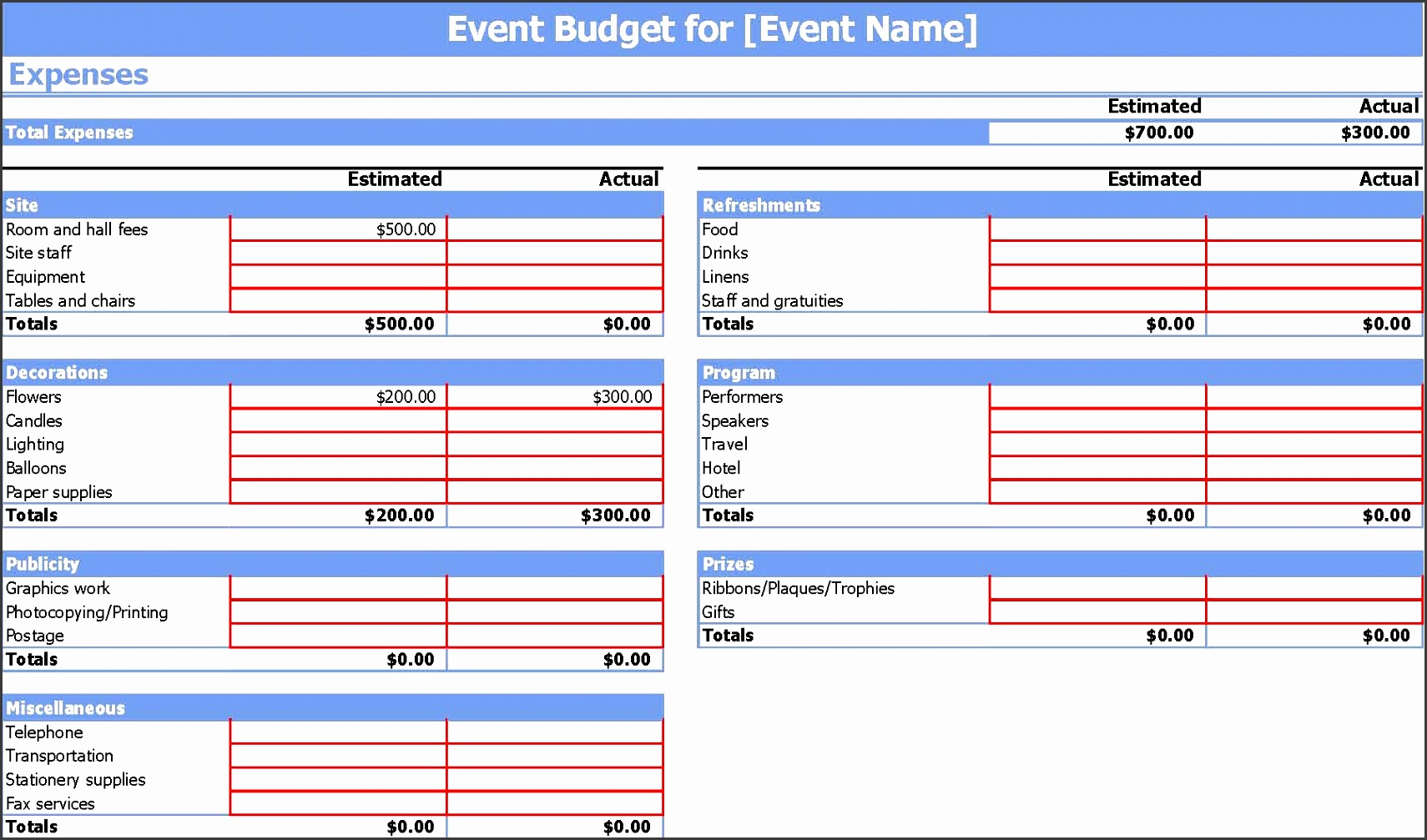 event bud template 9