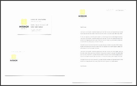 interior design sample letterhead template