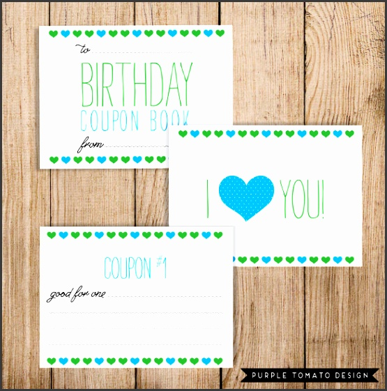 easily able birthday coupon template