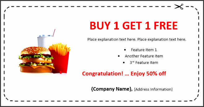 fast food coupon template