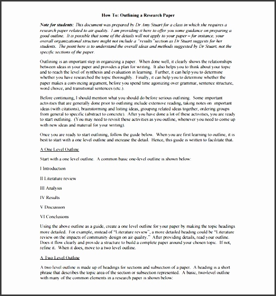 research project outline template free pdf
