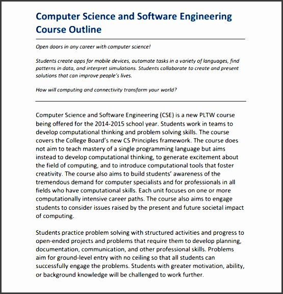 software engineering course outline
