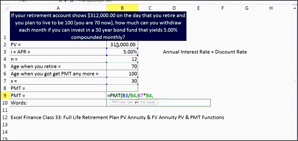 how to calculate monthly retirement in e in microsoft excel microsoft office wonderhowto