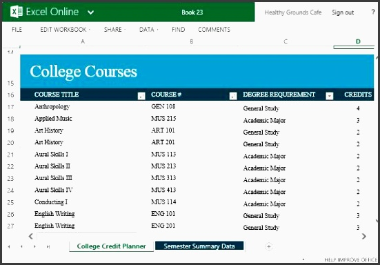4 create free college credit planner online for Create planner online