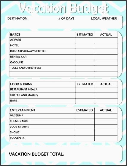 free printable vacation travel bud worksheet
