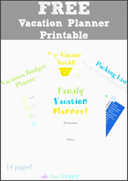 free vacation planner printable 14 pages of free printables for planning vacations including bud sheets