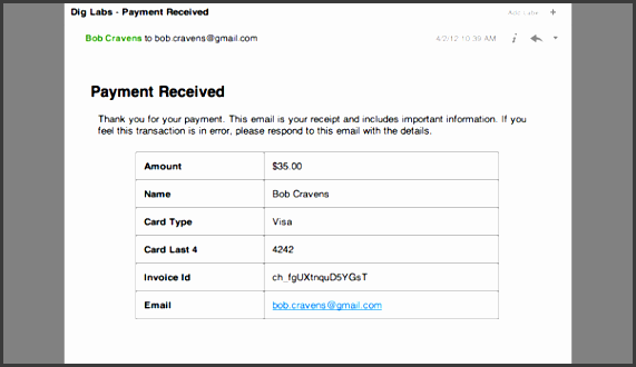 11 credit payment receipt template