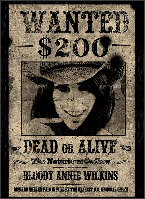 the old western vintage wanted poster photoshop template is a superbly created wanted poster template using adobe photoshop which shows the bullet holes on