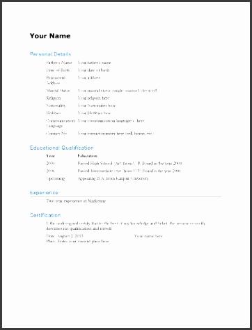 1 biodata resume template