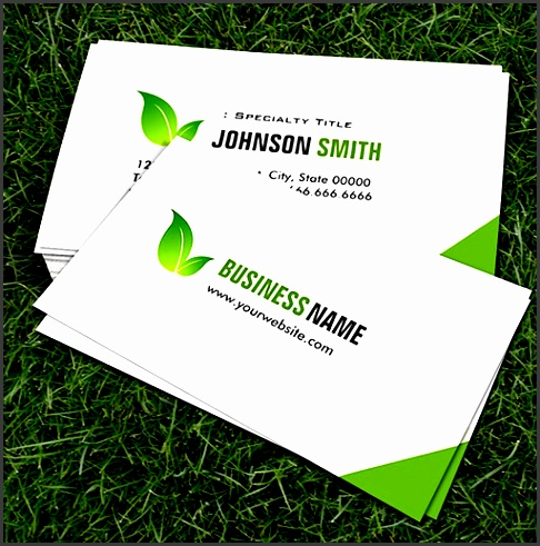 customizable green ecology bio elegant organic recyclable business card templates