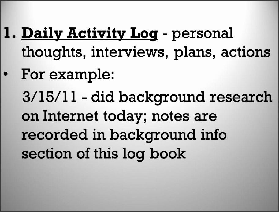 7 daily activity log