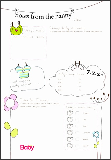 nanny schedule template for baby to the nanny chart as