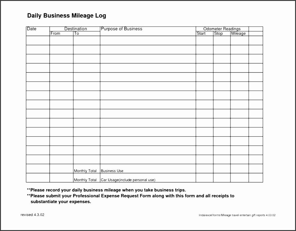 5 daily activity log template for business use