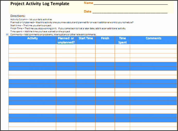 for this purpose project activity log template is being used for better controlling monitoring and tracking purpose below there are some features of this