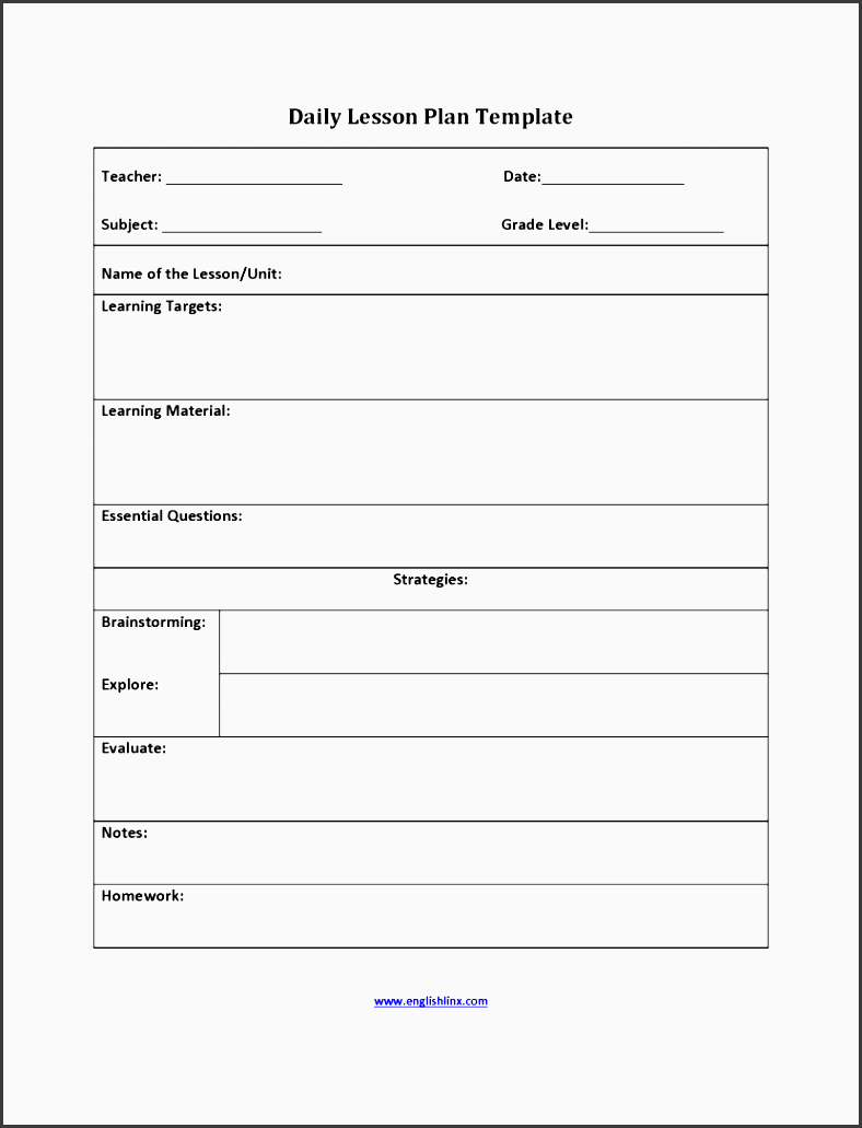 lesson plan template six step example format example lesson plan template lesson plan large